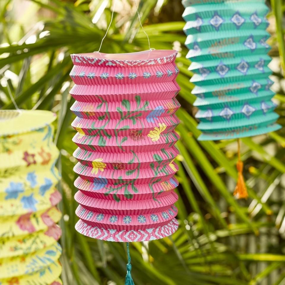 Boho Paper Lanterns x 3