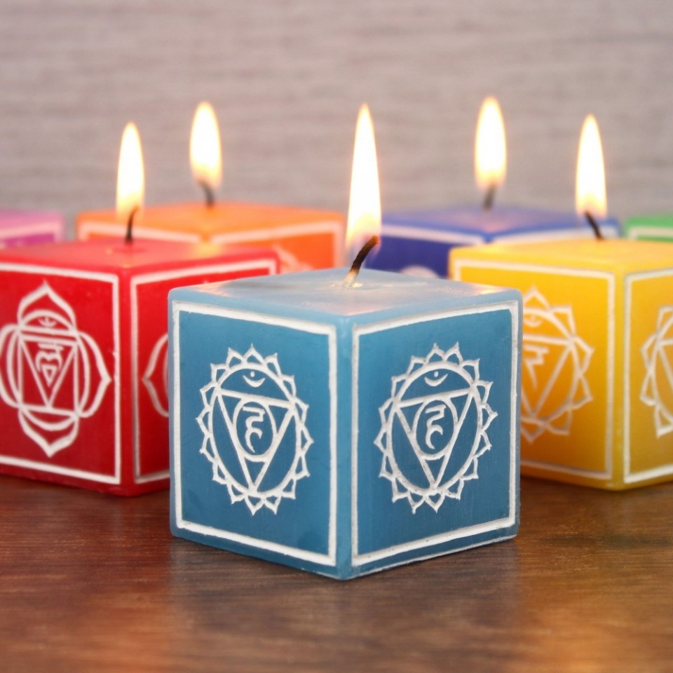 Set of 7 Chakra Symbol Candles
