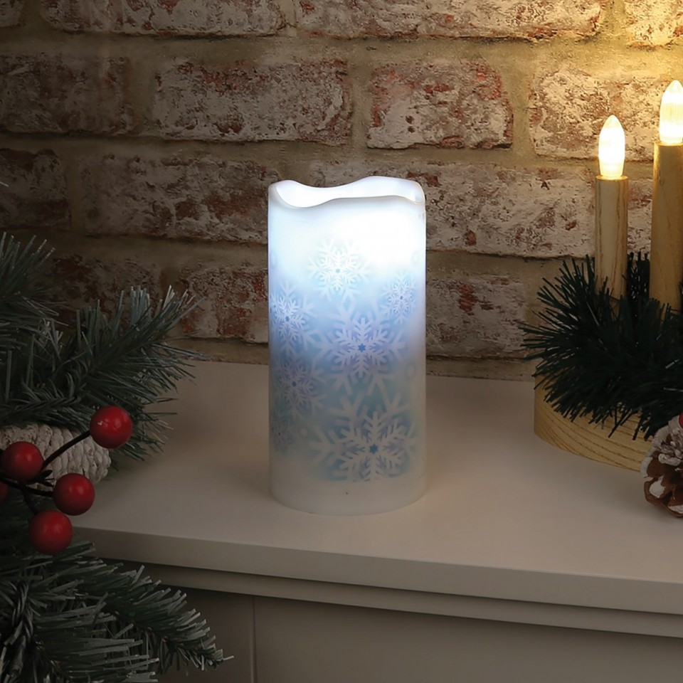 Snowflake Projector Candle