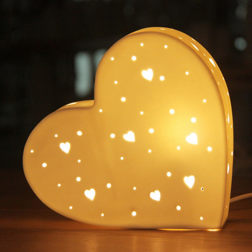 3D Ceramic Lamp Heart