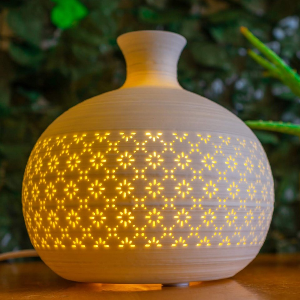 Ceramic Lamp Round Vase