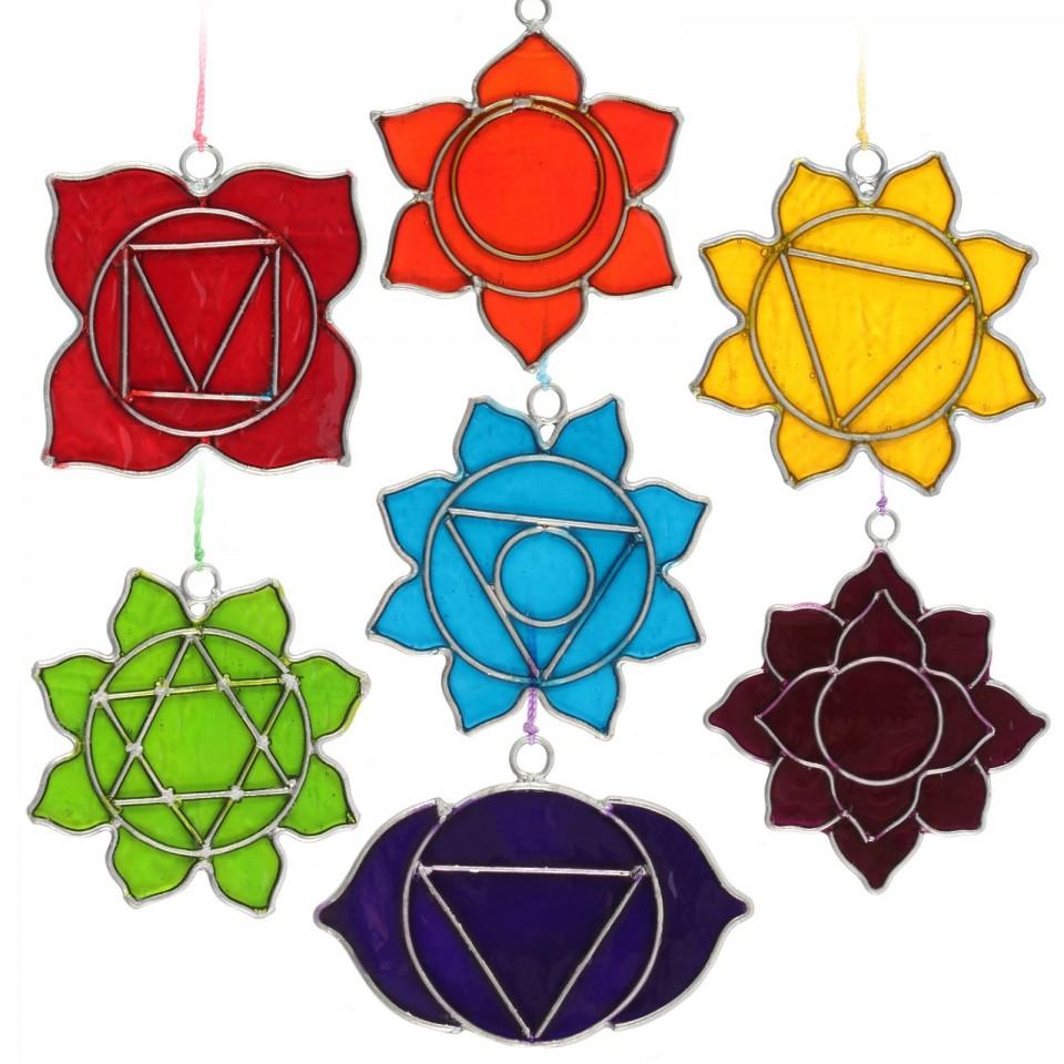 Set of 7 Chakra Sun Catchers