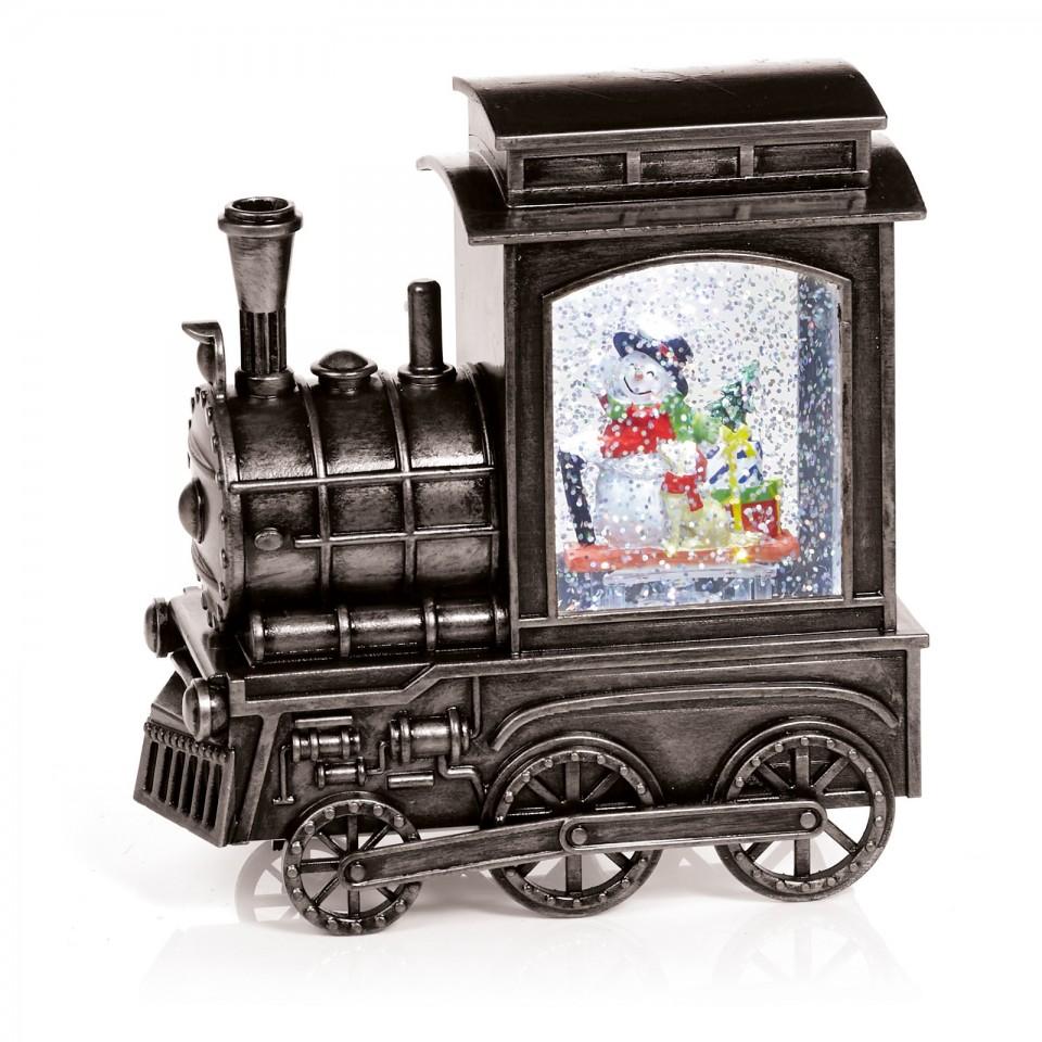 Glitter Water Spinner Christmas Train