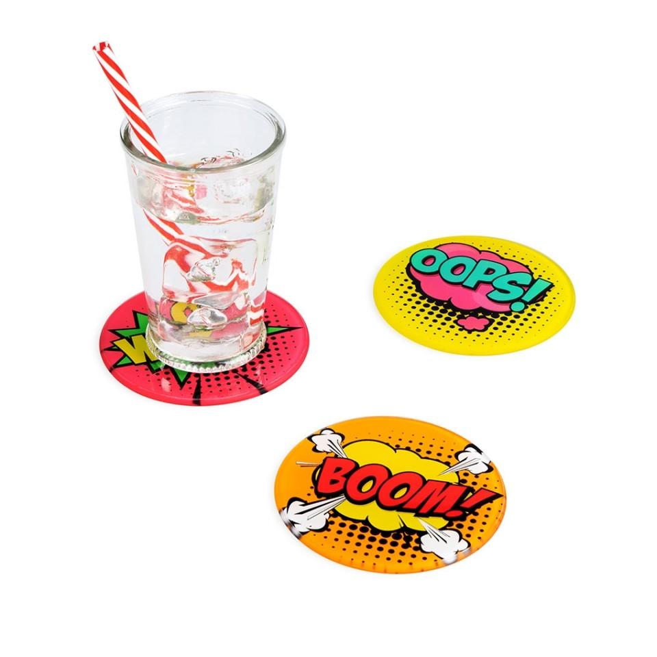 Pop Art Comic Coasters