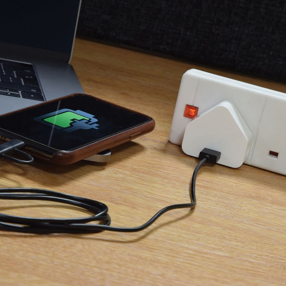 Compact USB Mains Charger 1.0A