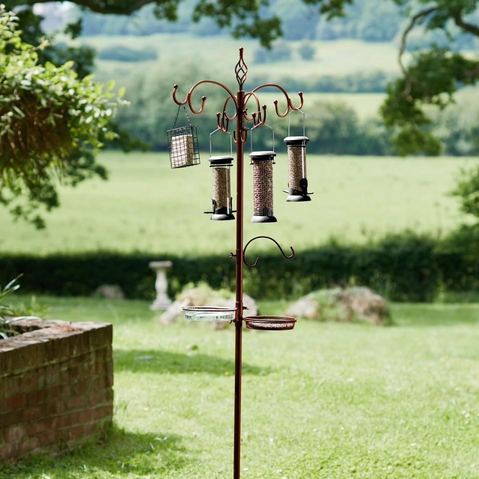 Bronze Complete Bird Feeding Station