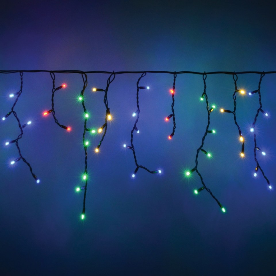 Connectable Icicle String Lights - Multi-Colour