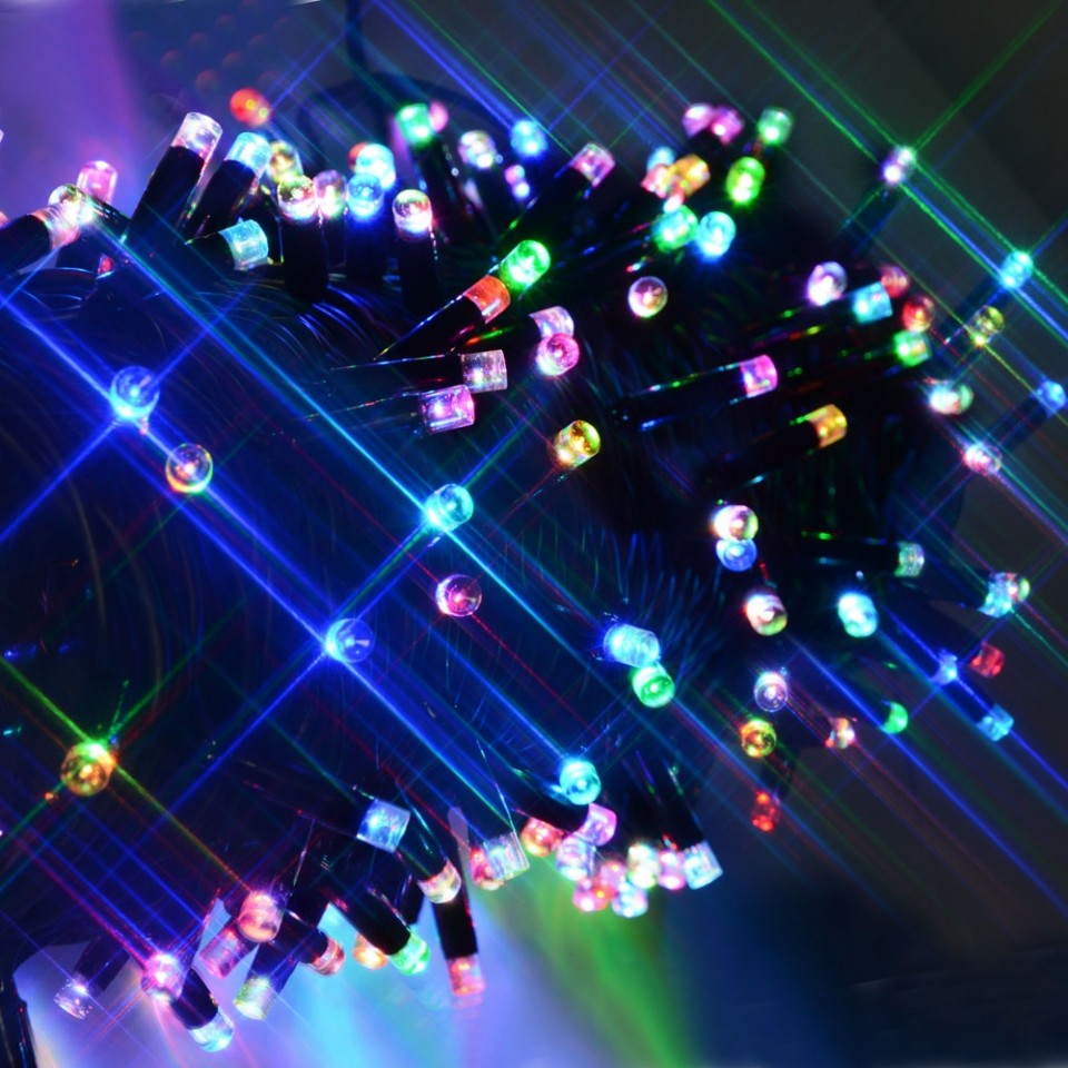 20m Connectable Heavy Duty Colour Scroll Fairy Lights