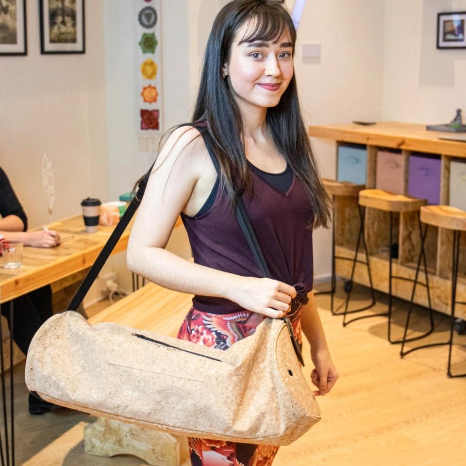 Cork Bag for Yoga Mat