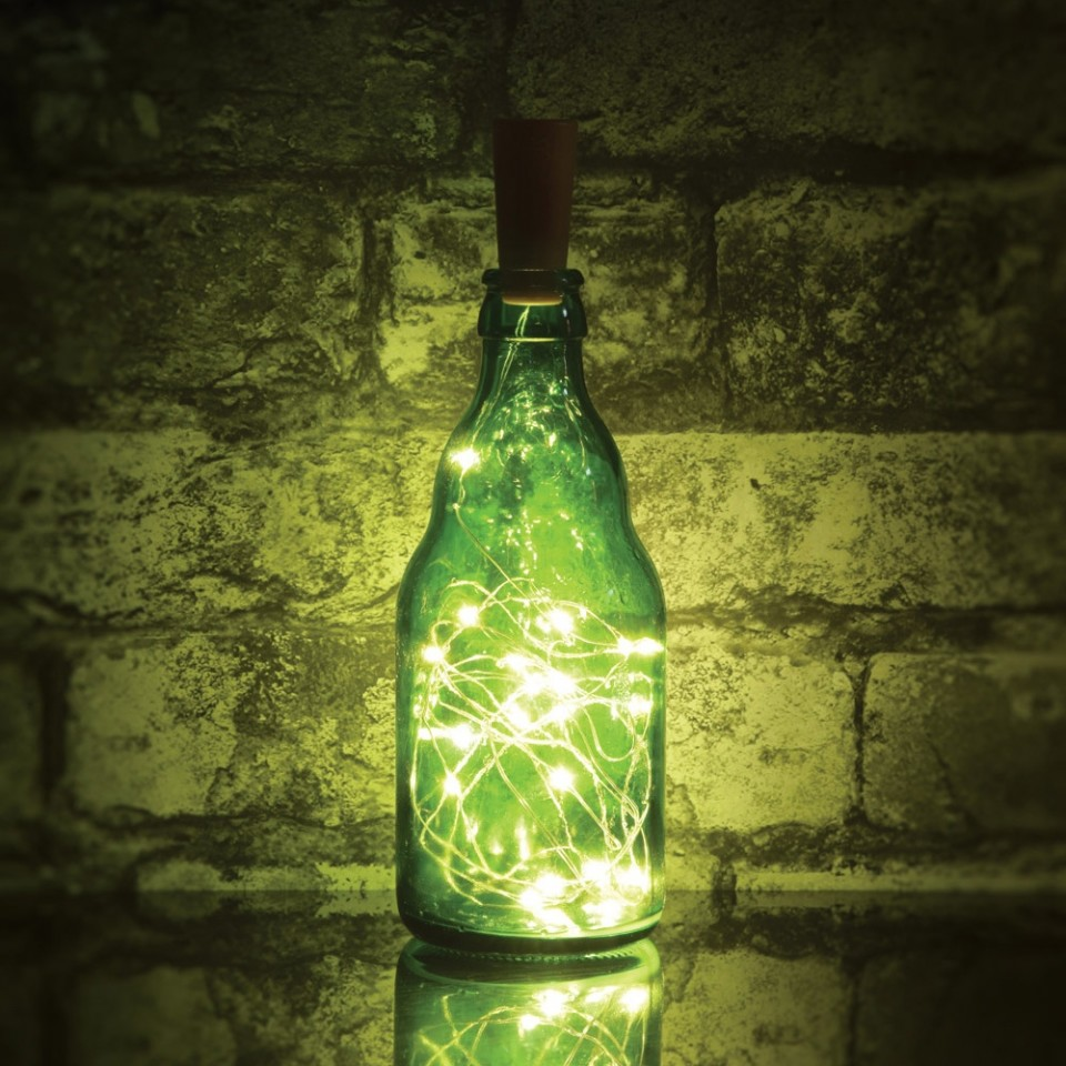 Bottle not included LED Bottle Fairy Lights - 20 Warm White