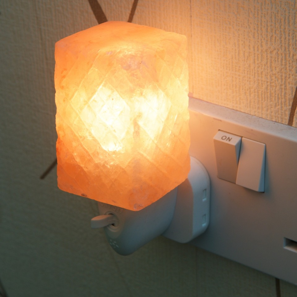 Cube Plug in Salt Lamp
