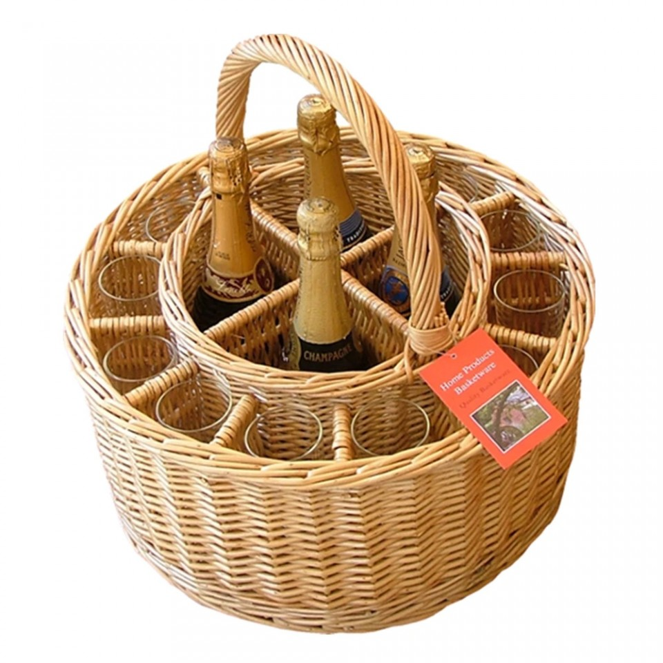 Garden Party Wine & 12 Glasses Picnic Basket