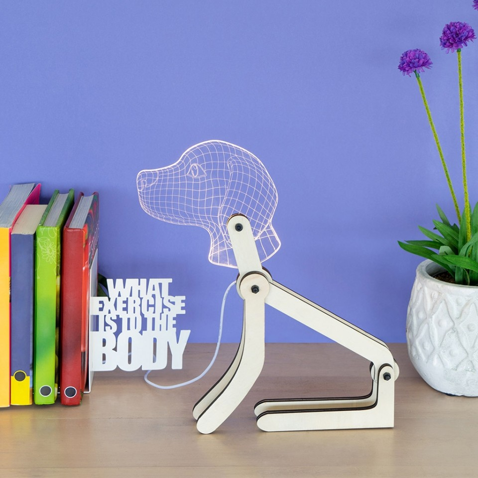 Dog Poseable Articulated USB Lamp