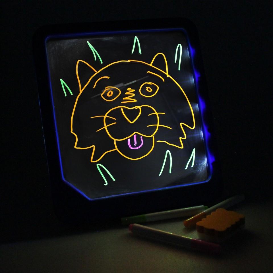 Neon Glow Light Up Doodle Pad