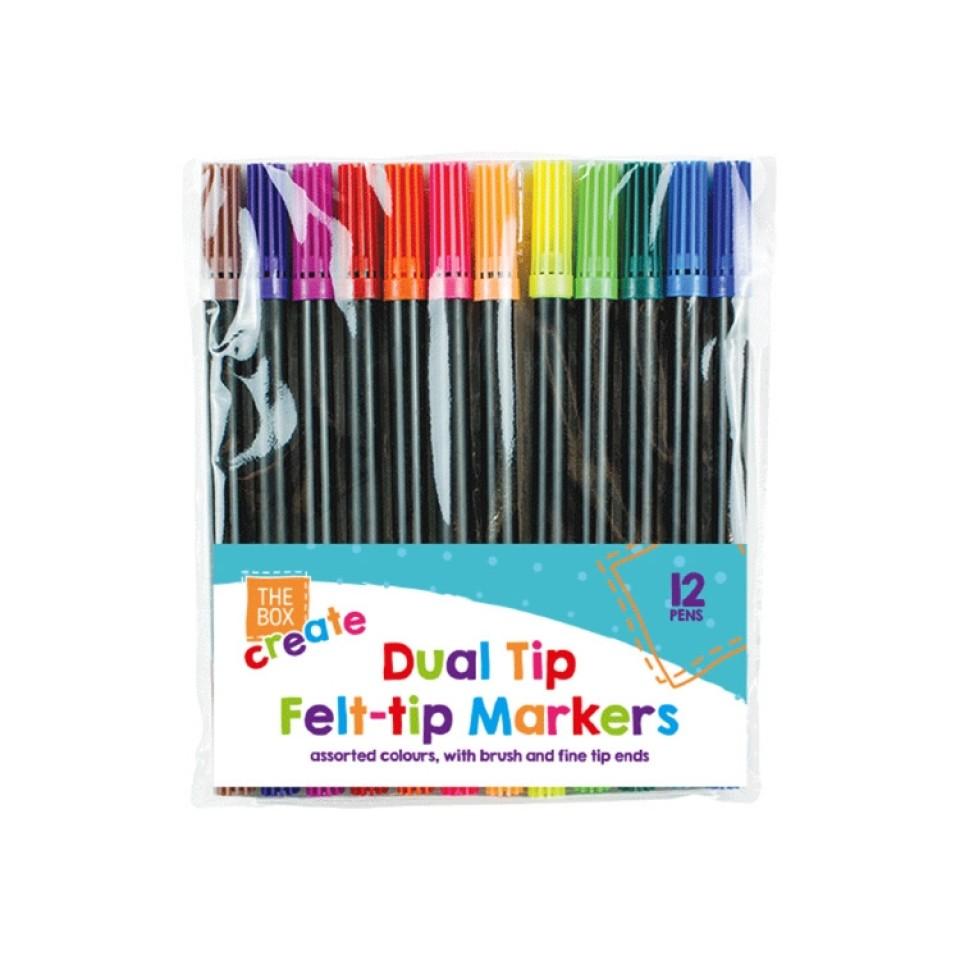 Dual Tip Felt Tip Pens (12 pack)