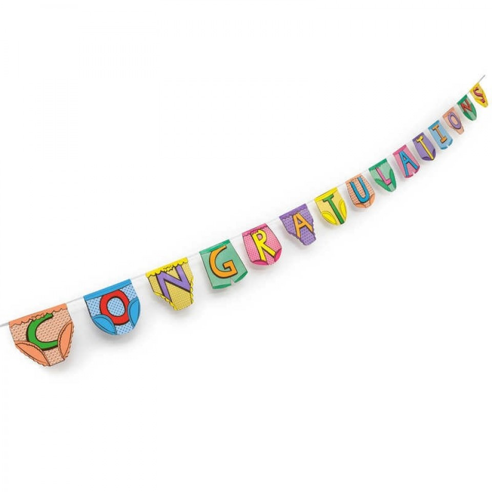 Congratulations Party Pants Bunting