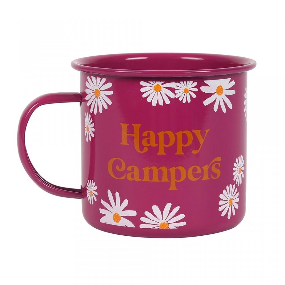 Happy Campers Enamel Mug