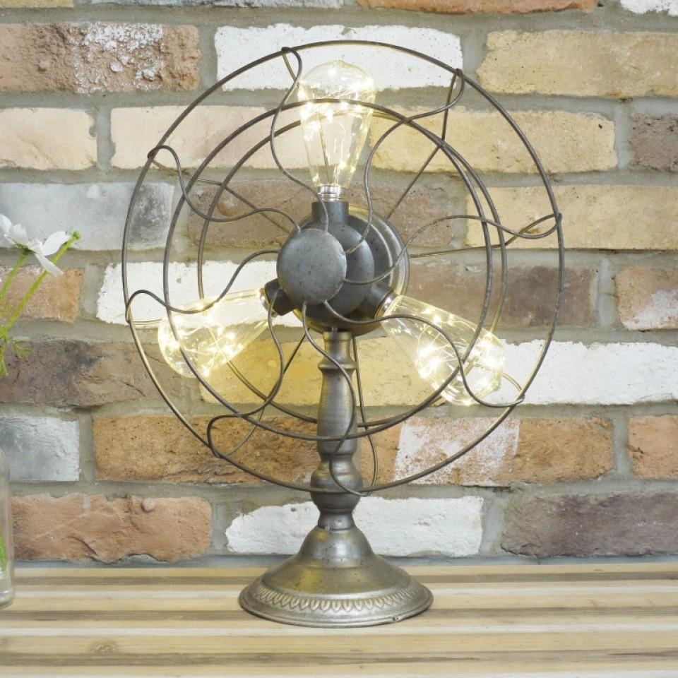 Battery Operated Fan Lamp