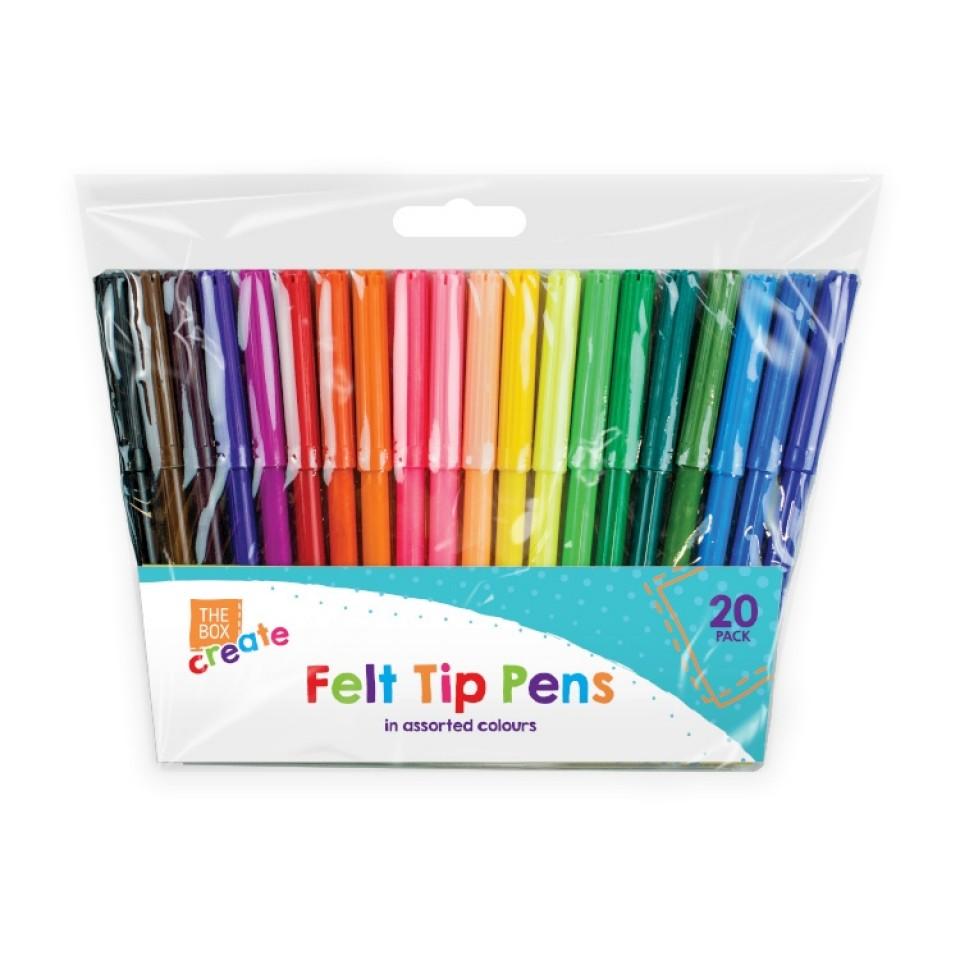 Felt Tip Pens (20 pack)