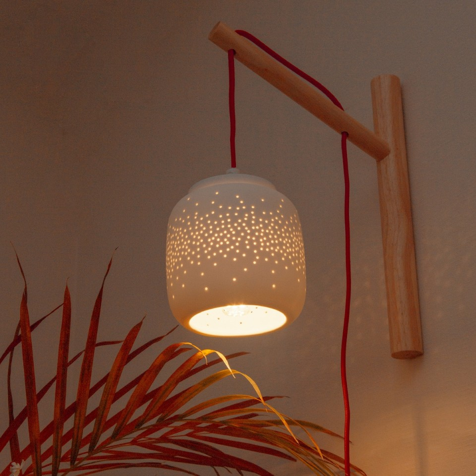 Fireflies Porcelain Lamp