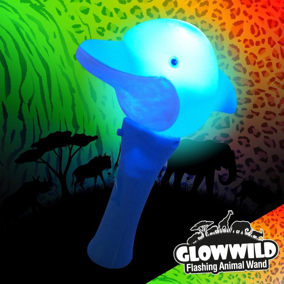 "Dolphin Mini Flashing Animal Wand 7"" Wholesale"