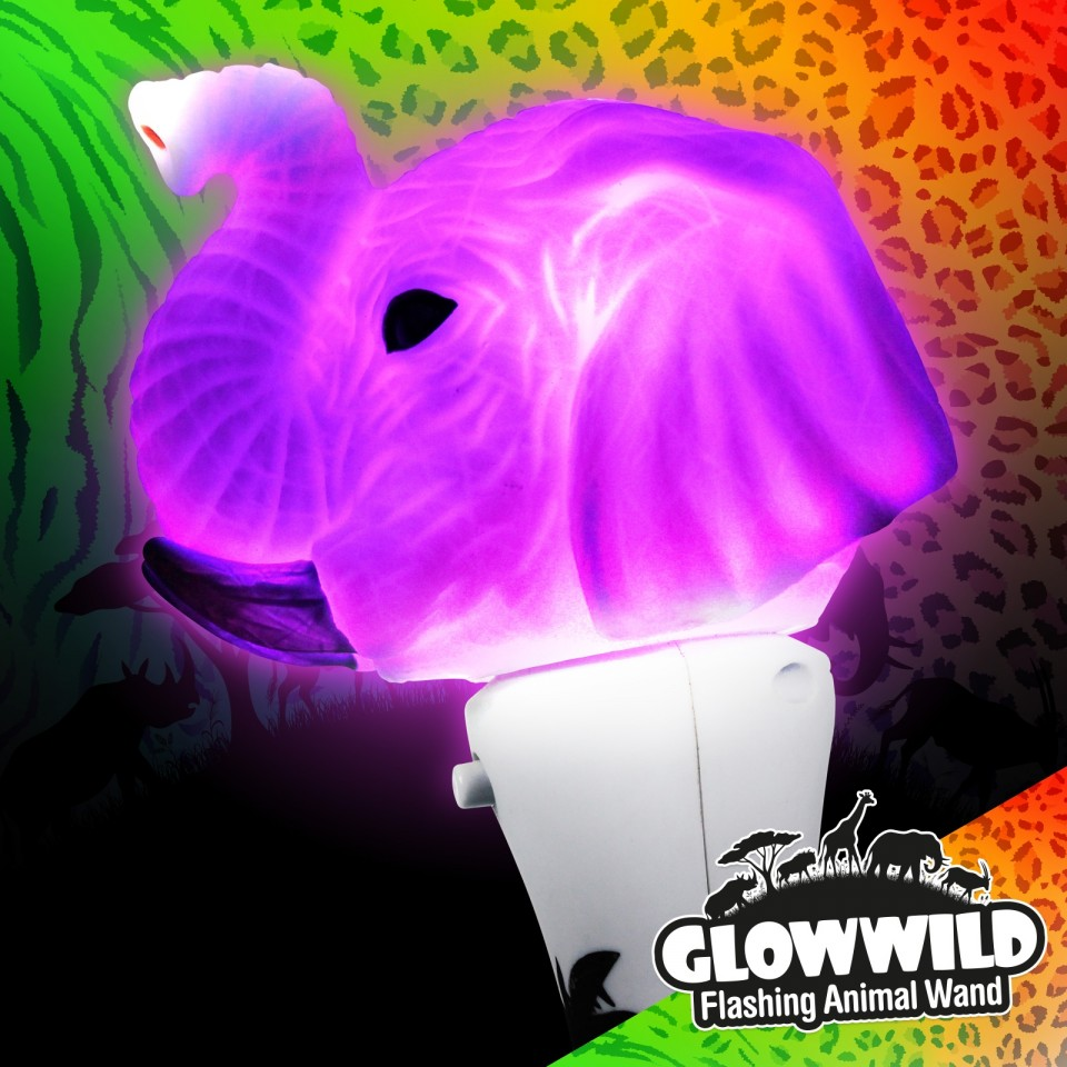 Elephant Mini Light Up Animal Wand 7""