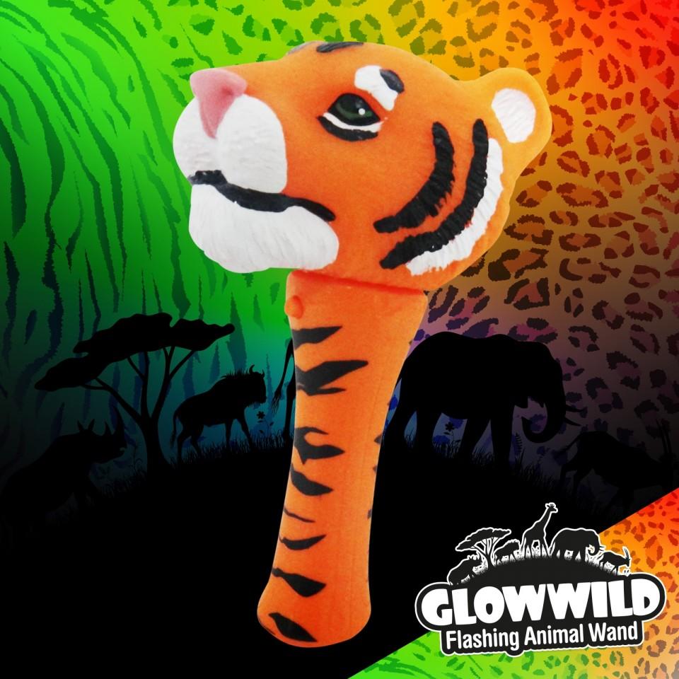 "Tiger Mini Light Up Animal Wand 7"""