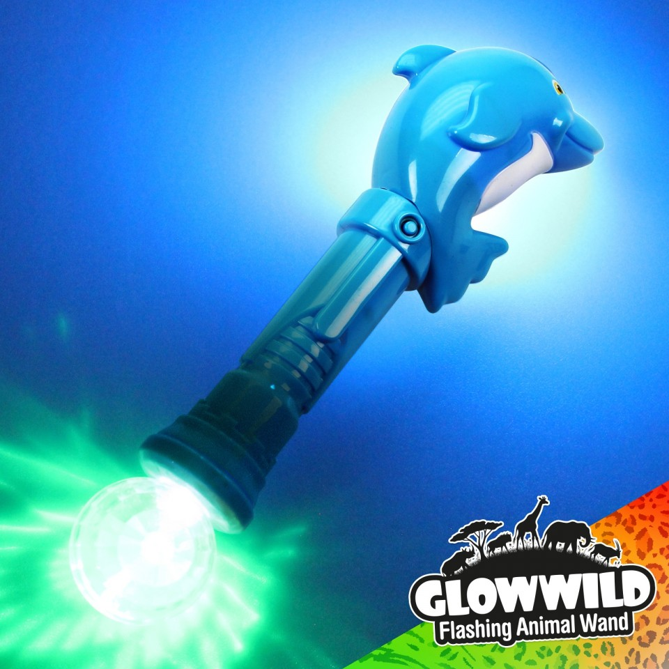 Dolphin Mega Light Up Animal Wand 11""