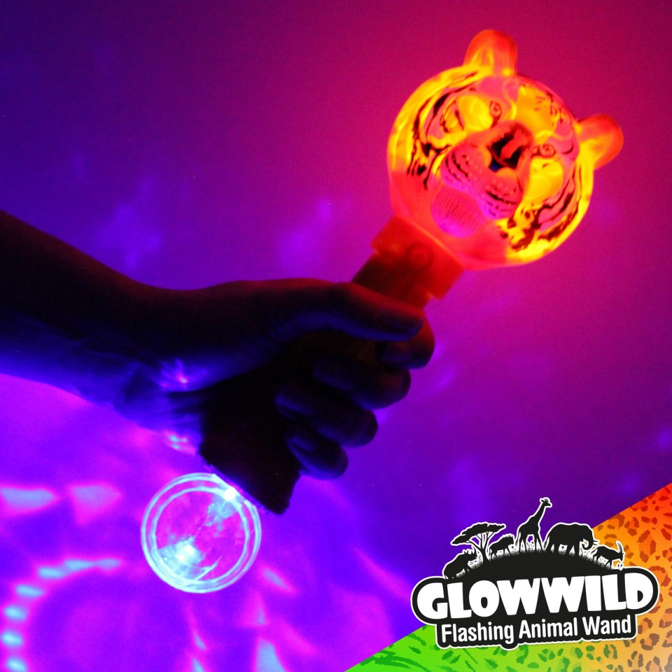 "Tiger Mega Light Up Animal Wand 11"""