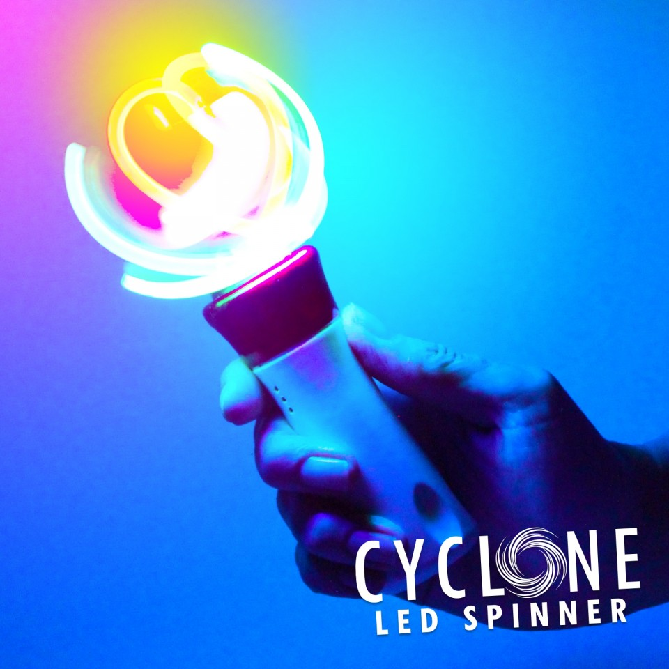 Light Up Cyclone Spinner