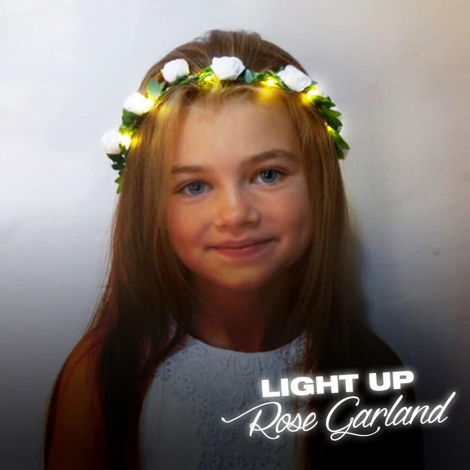 LED Rose Garland