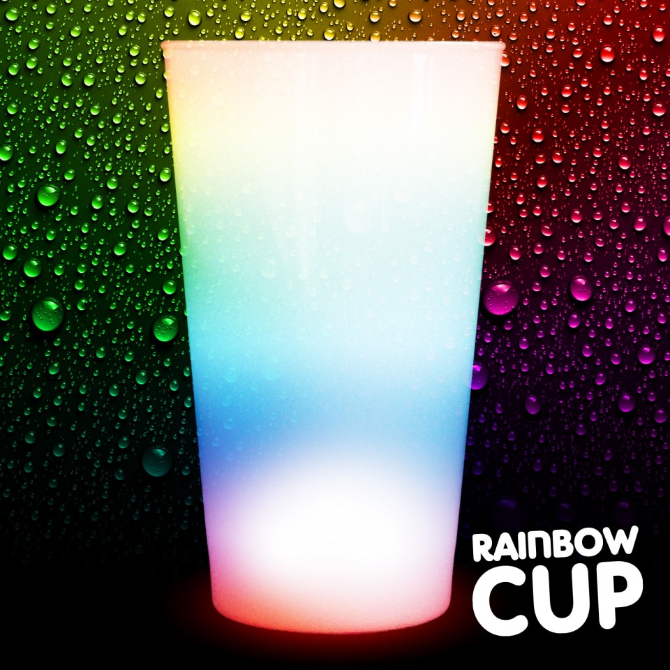 Light Up Rainbow Cups