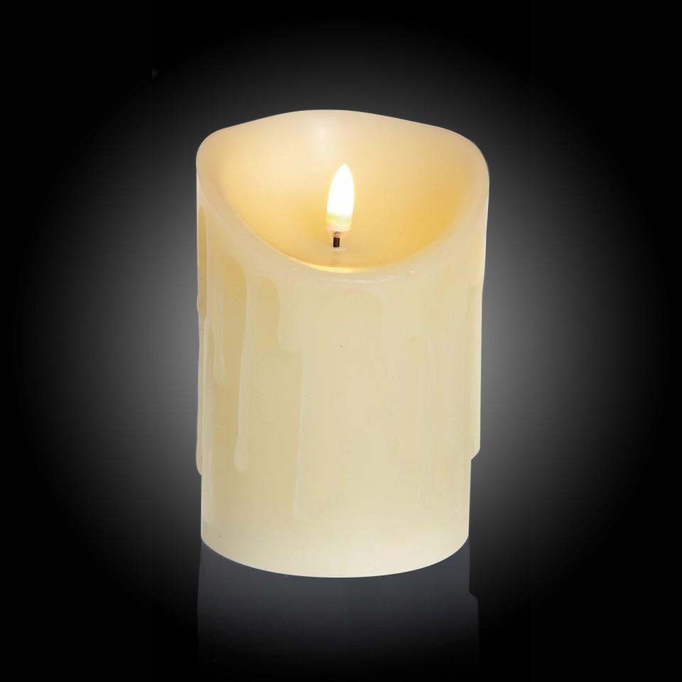 13cm Flickabright Wax Drip Candle