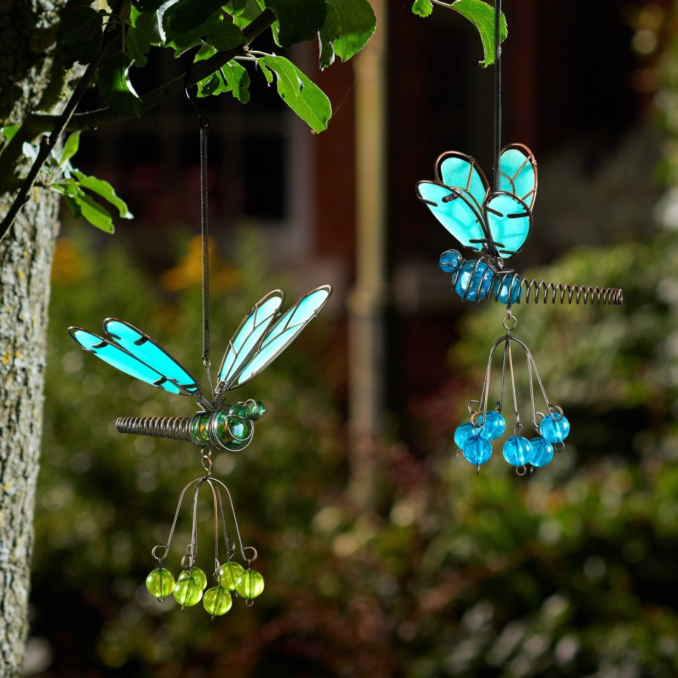 Glow Dragonflies (single pendant supplied) Flutter Glow Springy Pendant
