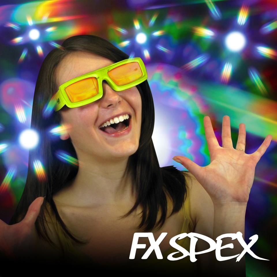 Burst FX Spex Deluxe Rainbow Glasses Wholesale