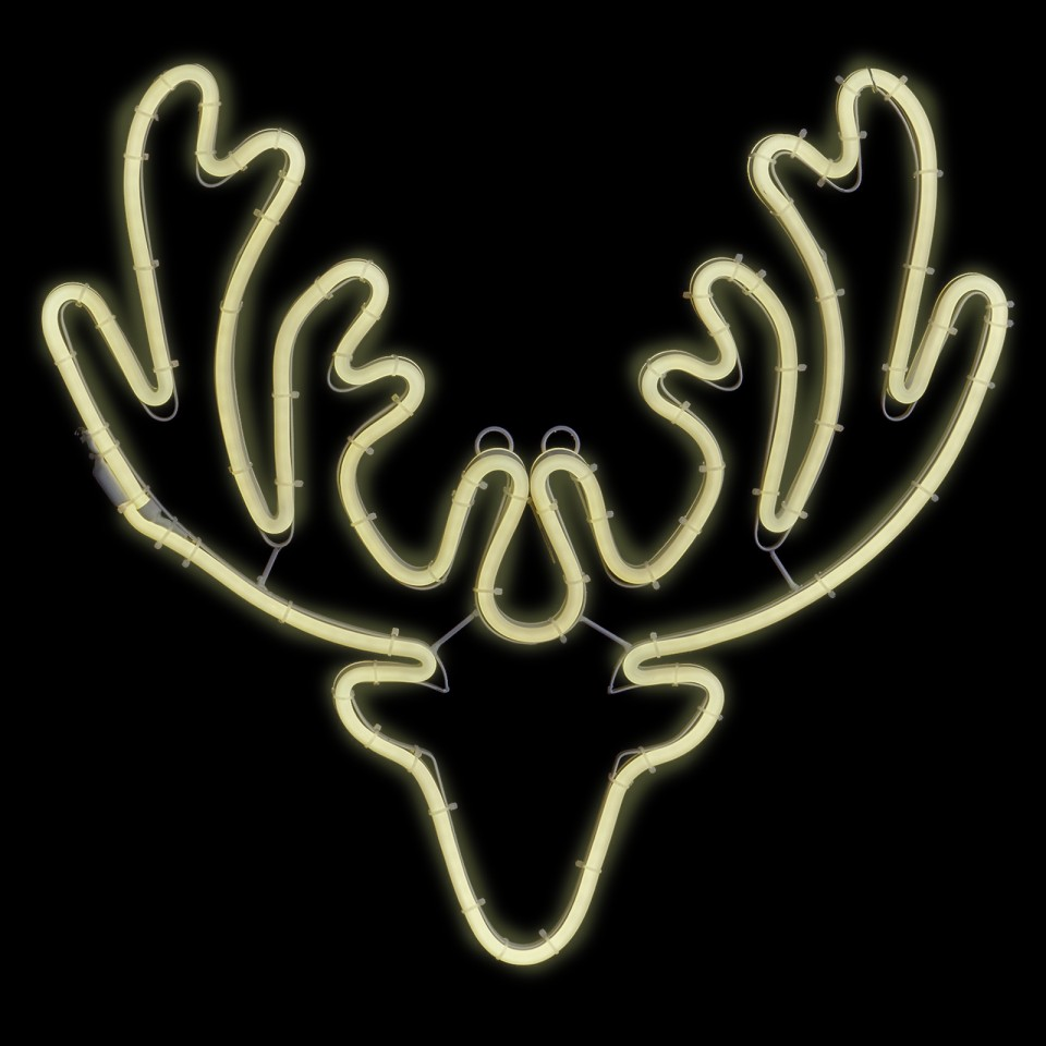 Large Neon Flex Reindeer Head