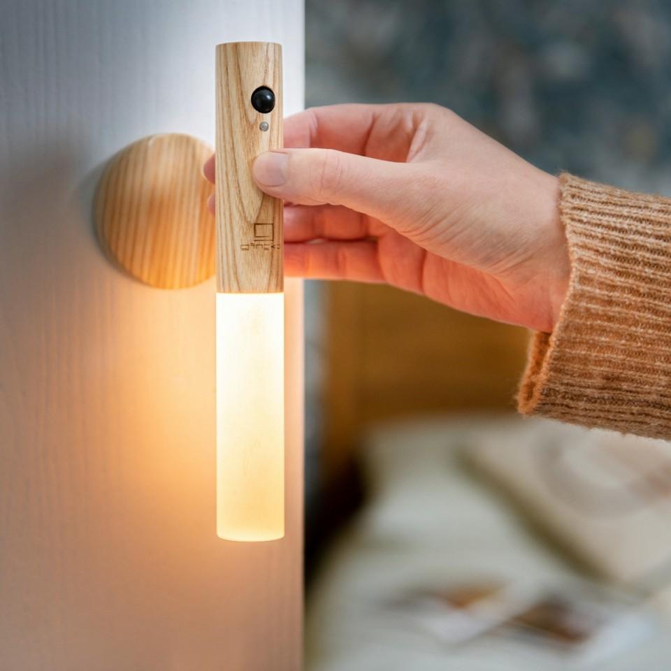 White Ash Gingko Smart Baton Wall Light