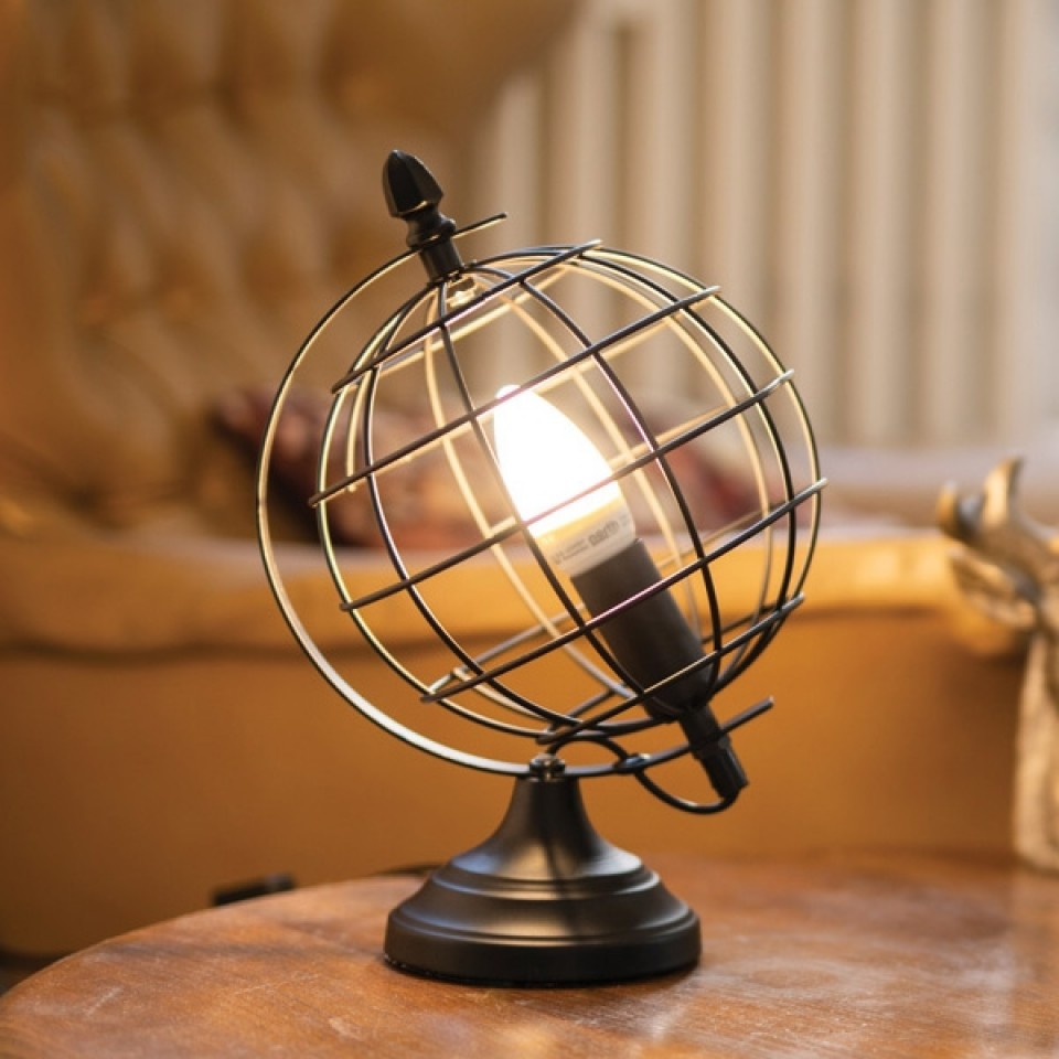 Globe Cage Table Lamp