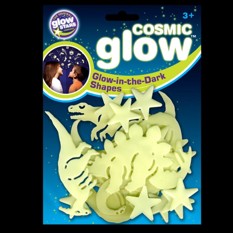 Cosmic Glow Dinosaur Shapes