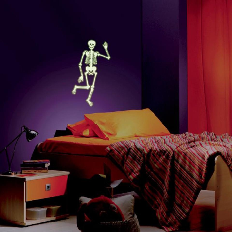 Glow Human Skeleton Sticker