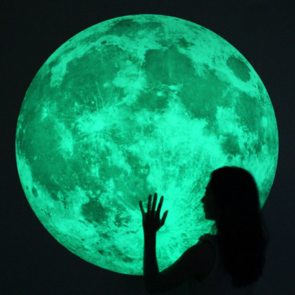 Extra large glow moonlight sticker Large/XL Glow Moon Light Wall Stickers