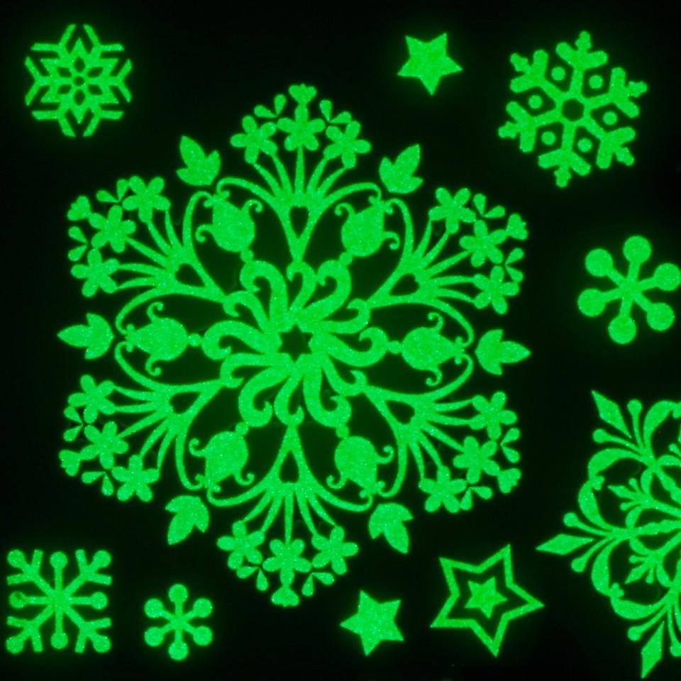 Glow Snowflake Window Stickers