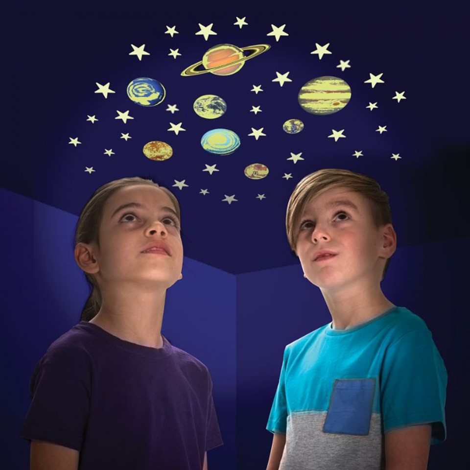 Glow Planets & Stars (8 Pack)