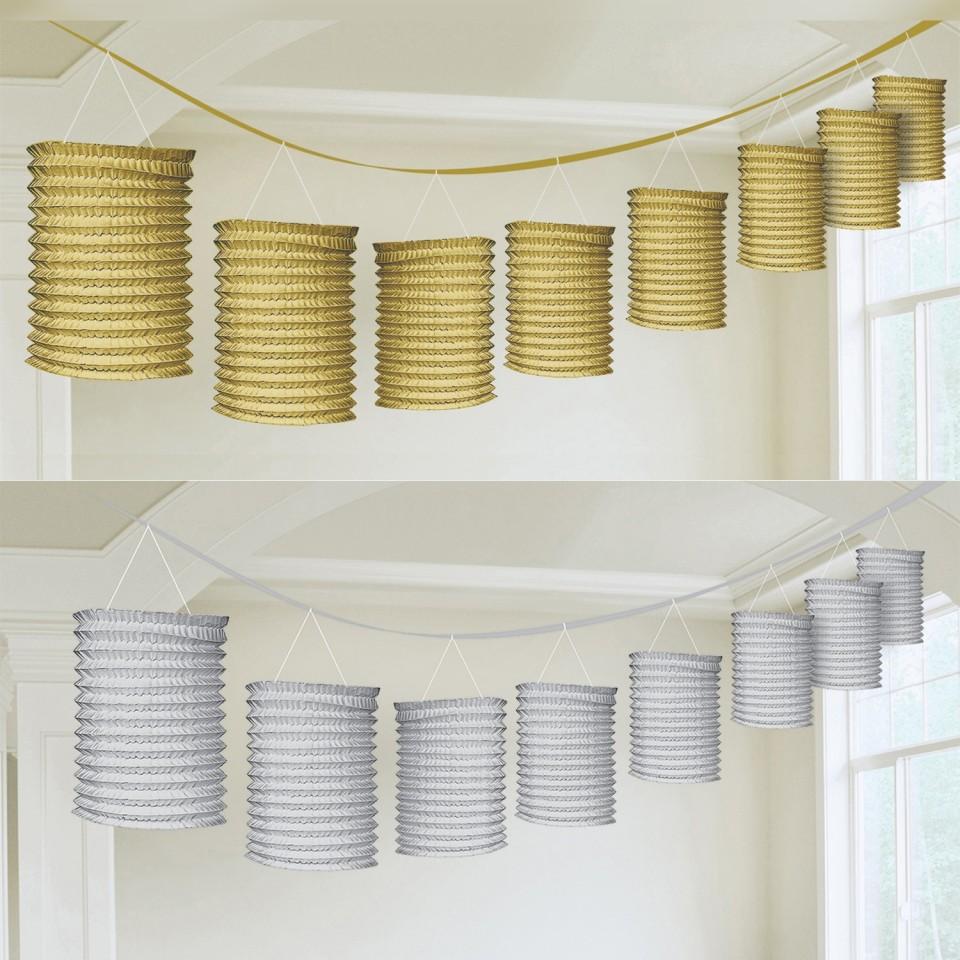 Metallic Paper Lantern Garlands