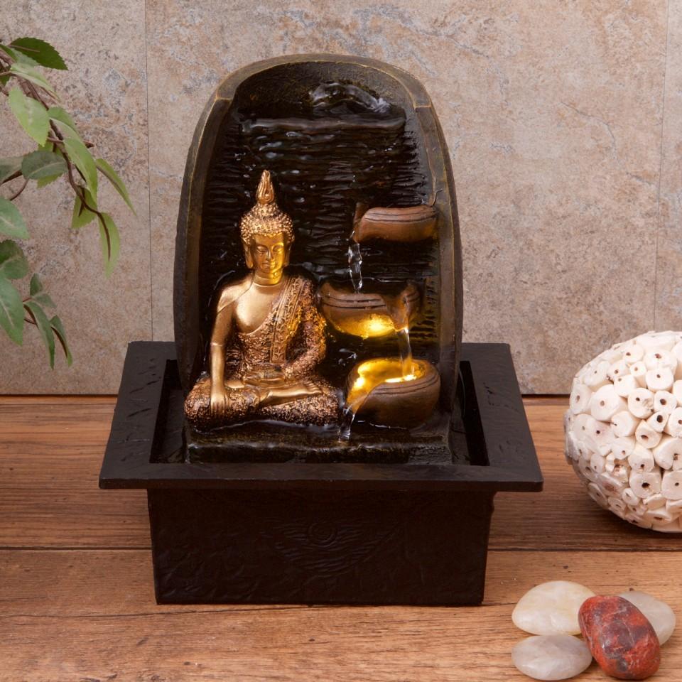 Golden Buddha Water Fountain