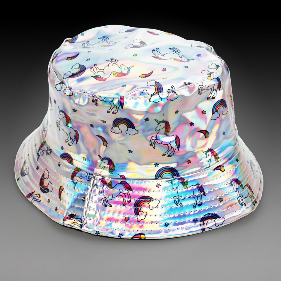Silver Holographic Unicorn Hat