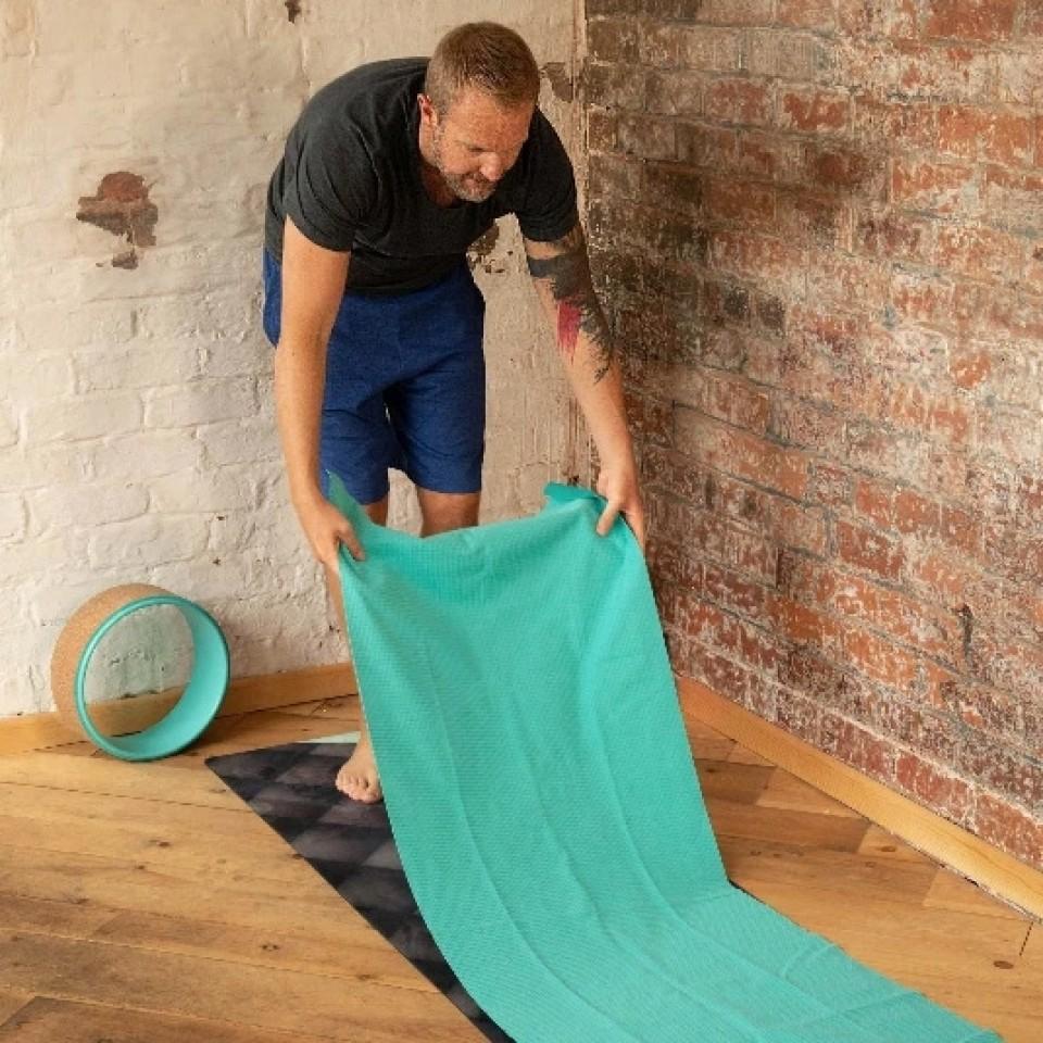 Yoga Towel for Hot Yoga - Grippy