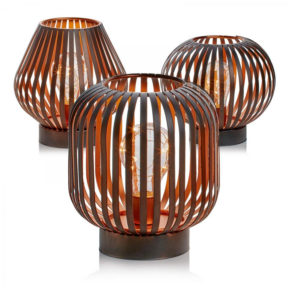 B/O Black Iron LED Lantern