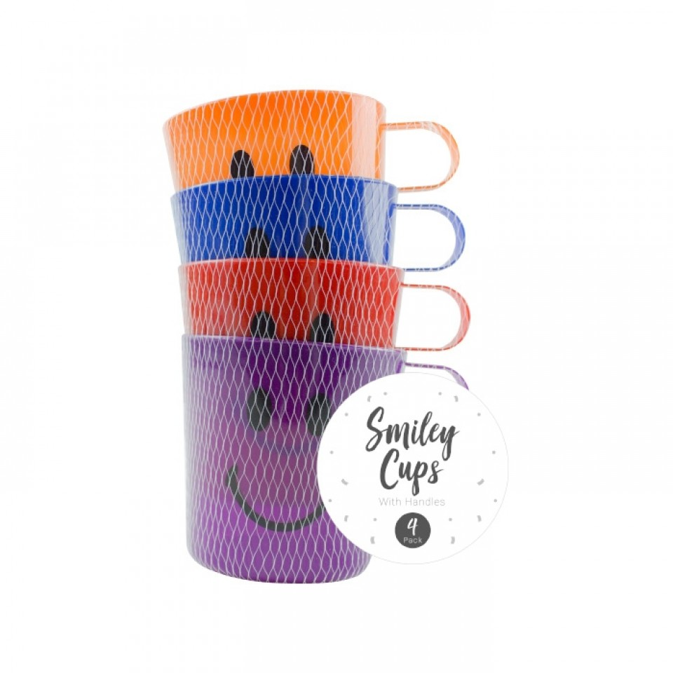 Smiley Face Kids Cups (4 pack)