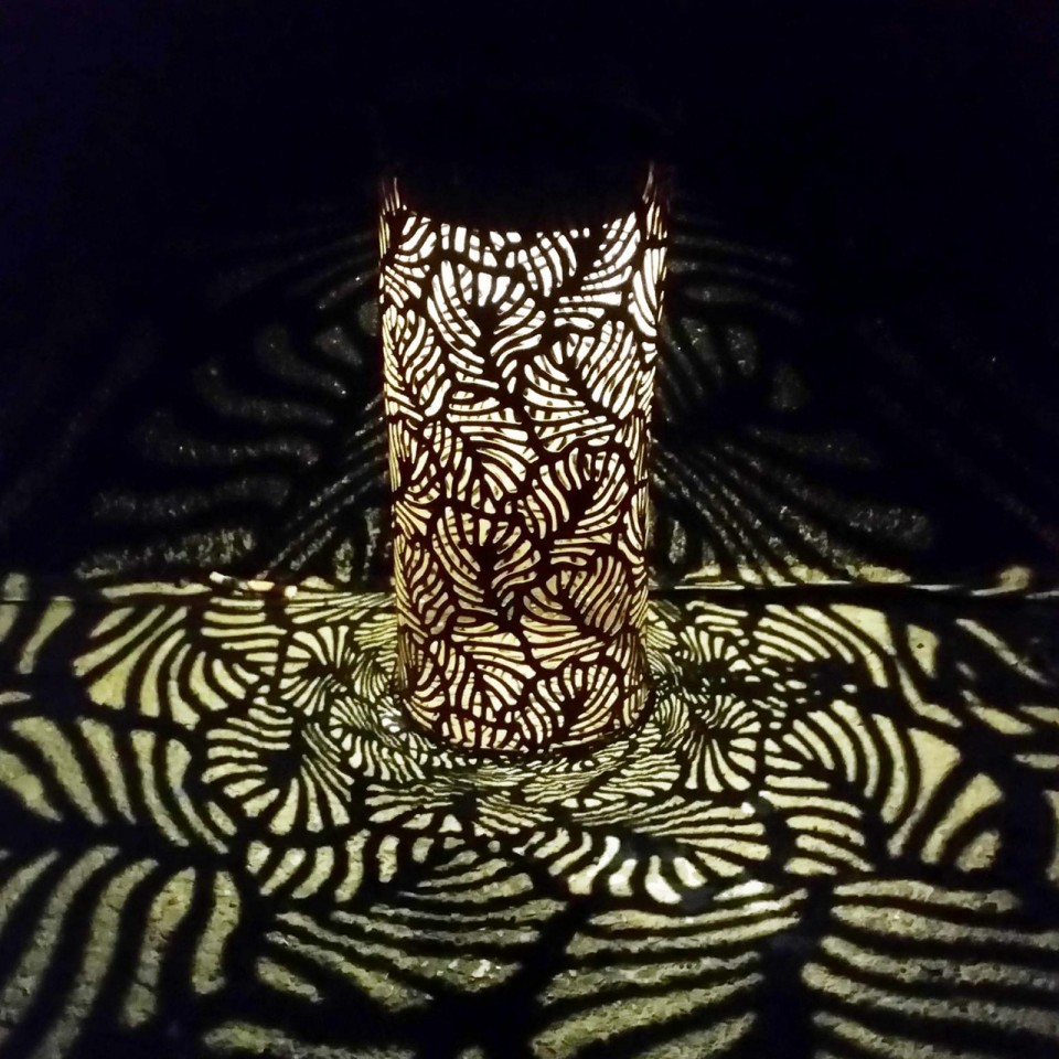 Leaf Shadow Lantern
